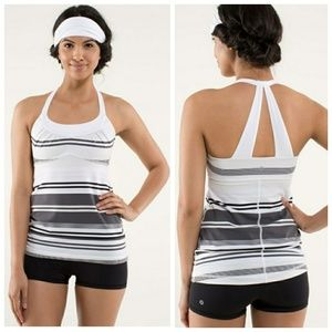 Lululemon Striped Scoop Me Up Tank Size 2